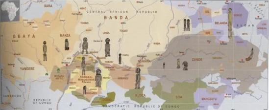 Ubangi carta geografica