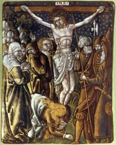 Crocifissione. Cristo sulla croce dopo che è stato trafitto dalla lancia del soldato, Leonard Limousin (c1505c1577)