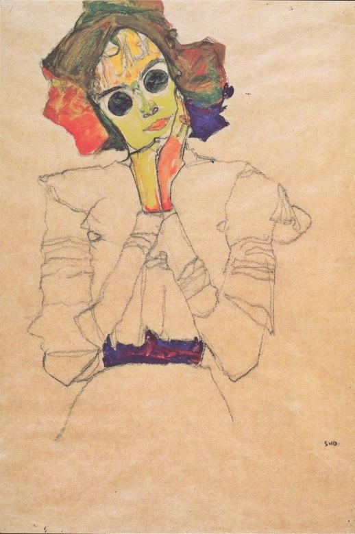 Fang testa 1910 Schiele madchen mit sonnebrillen