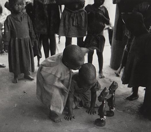 Also from the collection is the following photograph by Ulli Beier, from his Yoruba Children series.