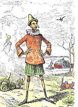 Ernrico Mazzanti, Prima ed. Pinocchio