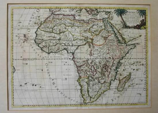 Map of Africa 1617 Guillermo Sansone