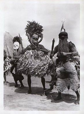 Salampasu Masqueraders, Belgian Congo, first half of 20th Cen, Photographer unknown.