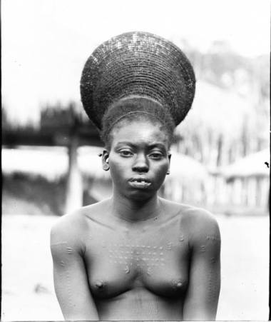 Amardi Woman at Okondo's Village in the Belgian Congo, Photograph byJames P. Chapin (1889-1964