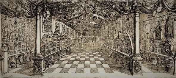 """""""Musaeum Septalianum"""", incisione di Cesare Fiori, 1664"""