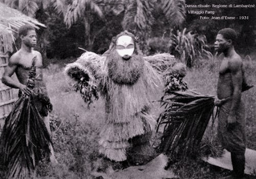 Fang Ritual in Lambarene, Gabon. Jean d'Esme 1931.