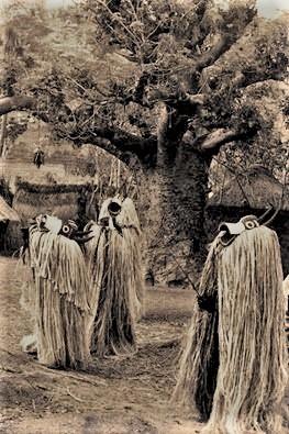 Mumuye, Vaa Bong masquerade, Pantisawa, Middle Benu Nigeria. Photograph by Arnold Rubin April 1970