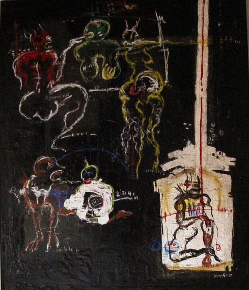 Zinkpé olio su tela cm 150x180
