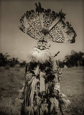 Bakuba Dancer. Belgian Congo. ca. 1959. Photograph by H Philips