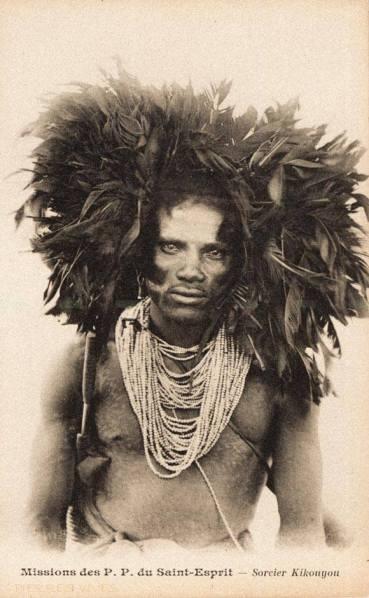 A Kikuyu Sangoma (medicine man) British East Africa, circa 1910.