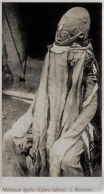 Igala ritual mask 'Egwu Agba.' Taken from the book ARTS DU NIGERIA, Reunion des musée nationaux Paris 1997. Photograph by J.Boston