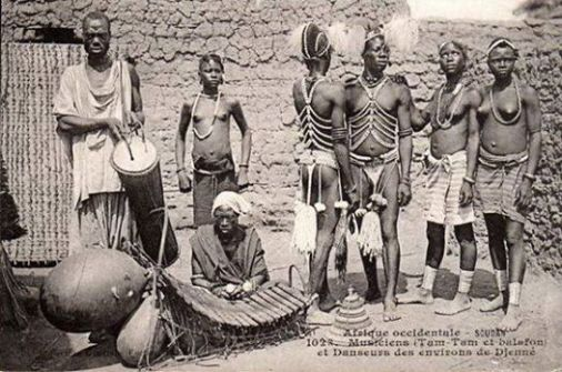 Djenne, Mali, musiciens et danseurs, early 20th Cen, Photographer Unknown.