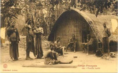 'French Congo, Batéké family. Congo Français. Photograph by J. Audema. ca.1905