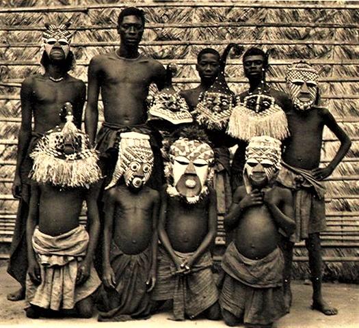 Bakuba Masqueraders, Belgian Congo, Circa 1930's.